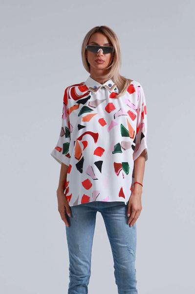 Риза с прилеп ръкав