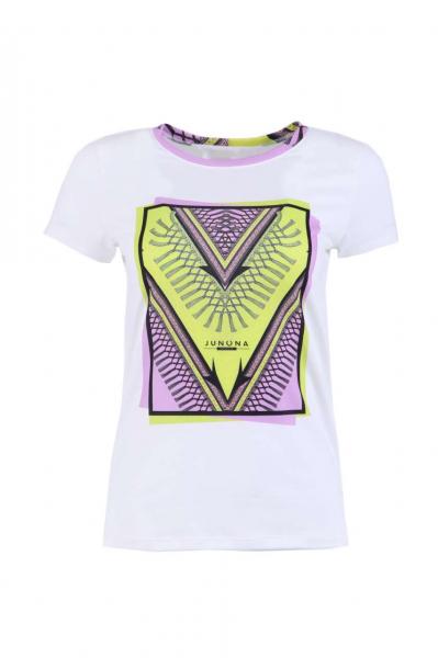 Тениска с контрастен принт