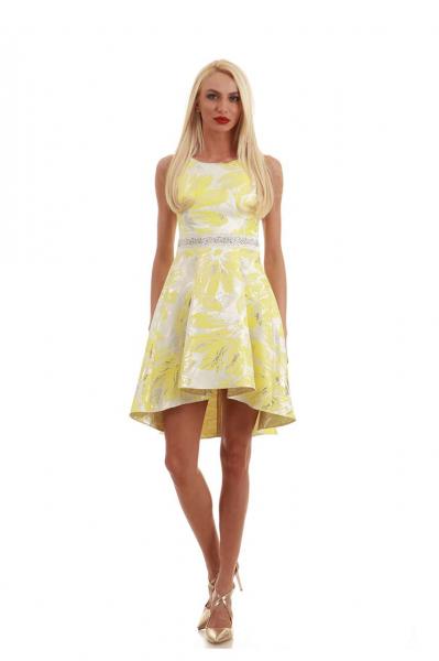 Асиметрична рокля с камъни