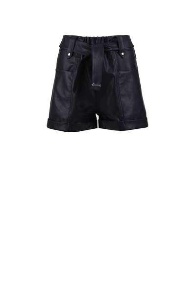 Къс кожен панталон