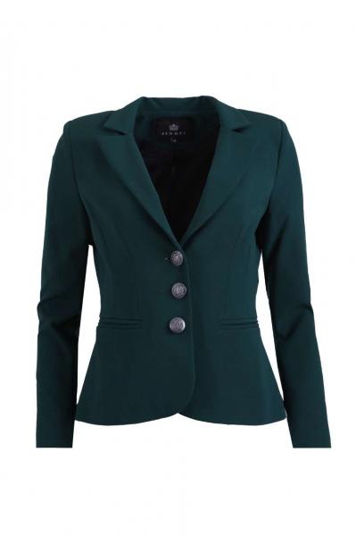Класическо сако в зелен цвят