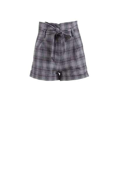 Къс кариран панталон