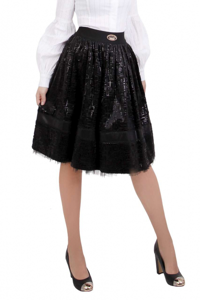 Черна дамска пола