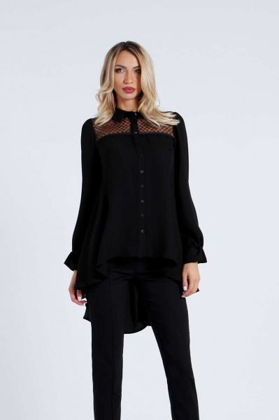 Риза-туника в черен цвят