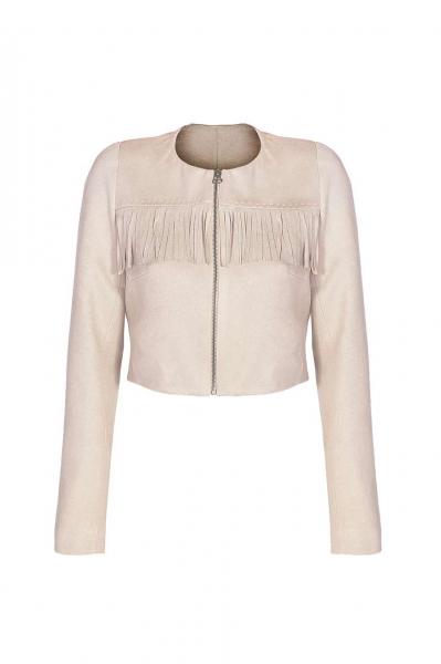 Дамско сако с ресни
