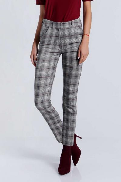 Кариран дамски панталон