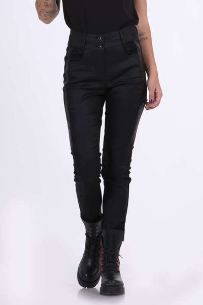 Черен панталон от промазка