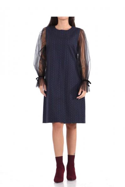 Дамска рокля с ръкави от тюл