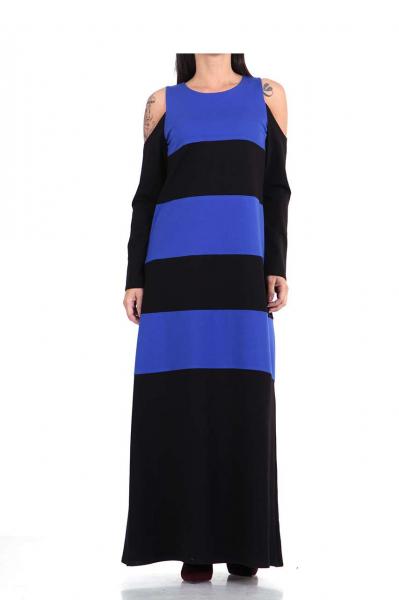 Дълга рокля в два цвята