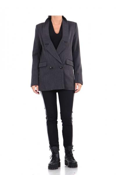 Дамско сако в сив цвят