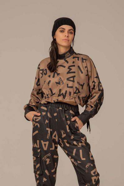Спортна блуза с цип