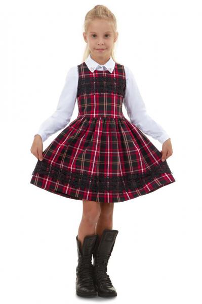 Детска карирана рокля