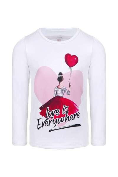 Детска блуза с апликация Love is everywhere
