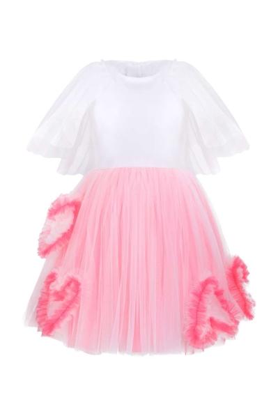 Детска рокля с ръчно изработени сърца