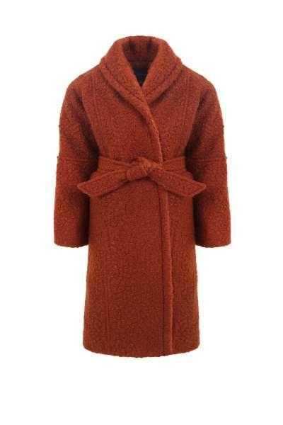 Детско текстурирано палто с каракул