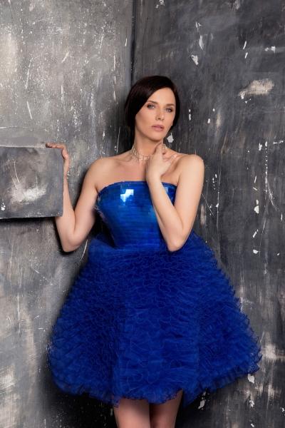 Дамска рокля Junona Blue