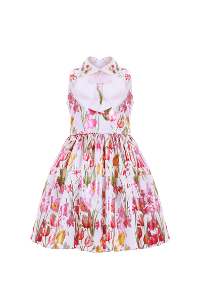 Детска рокля с флорален принт