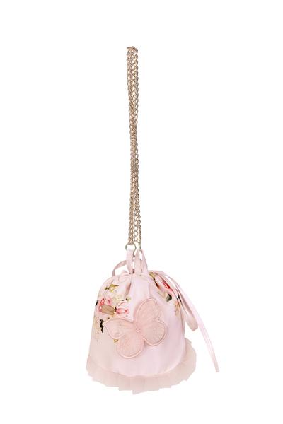 Розова детска флорална чанта