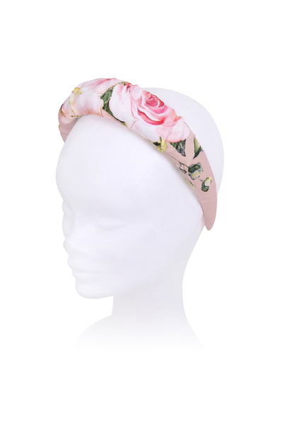 Розова детска флорална диадема
