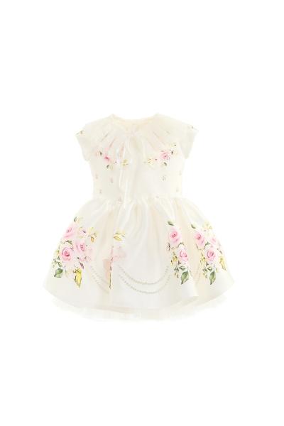 Бебешка рокля с флорален принт