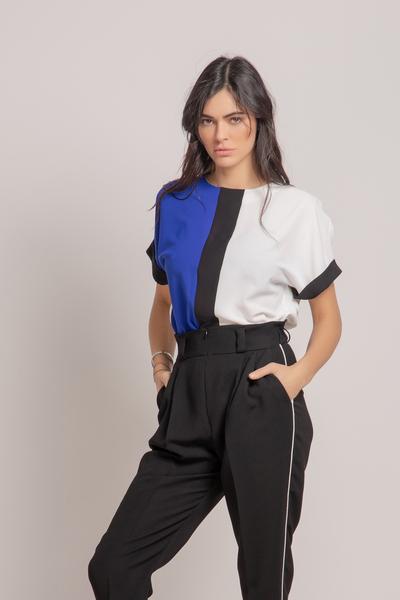 Елегантна Блуза в Три Цвята