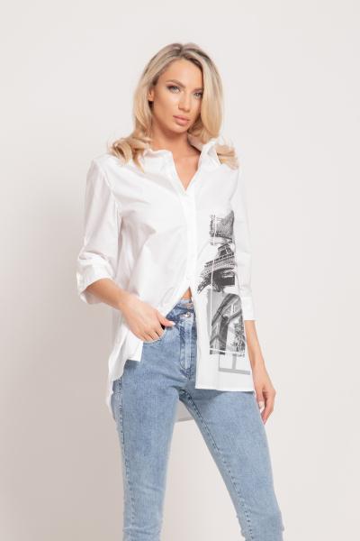 Елегантна Дамска Риза с Апликация