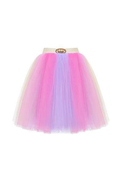Детска тюлена пола, акцент - лилав цвят