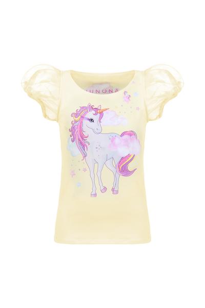 Детска блуза с Еднорог с къс прозрачен ръкав