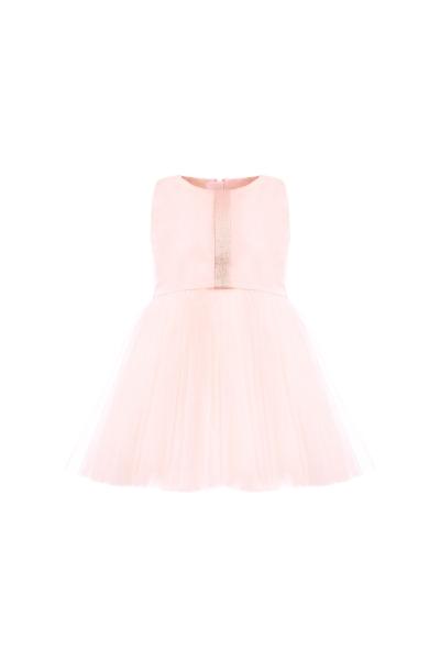 Бебешка розова рокля с тюл