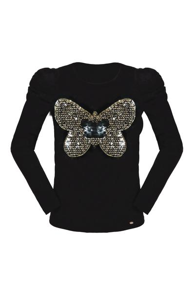 Детска блуза с принт пеперуда