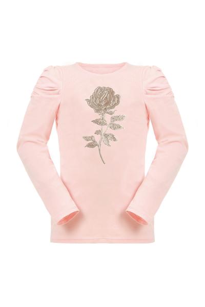 Детска блуза със златен принт роза