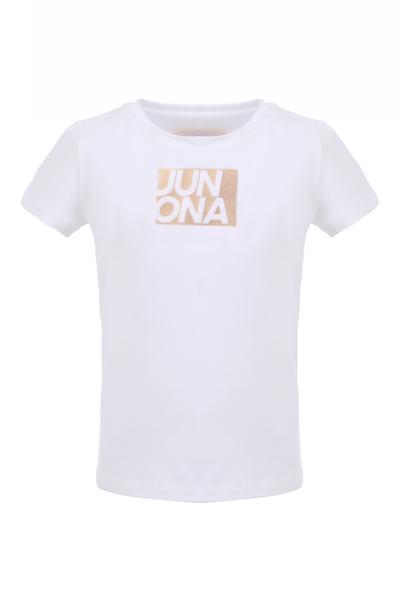 Детска тениска със златно лого Junona