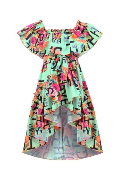 Асиметрична рокля с принт