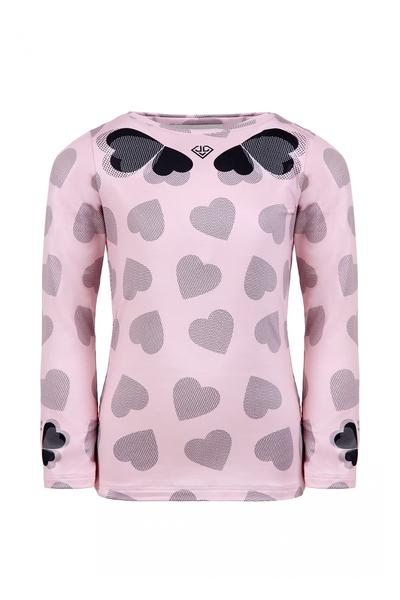 Детска блуза с принт сърца