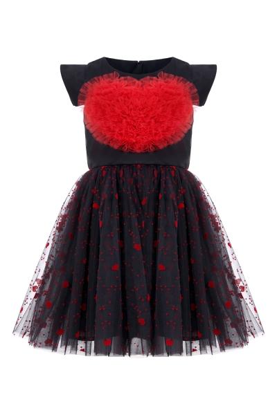 Детска рокля със сърце
