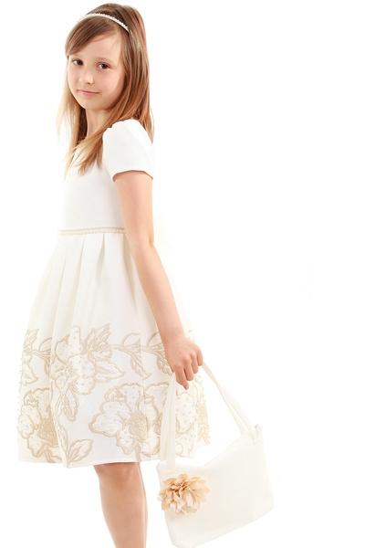 Детска рокля с бродерия