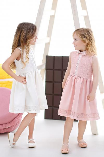 Детска дантелена рокля