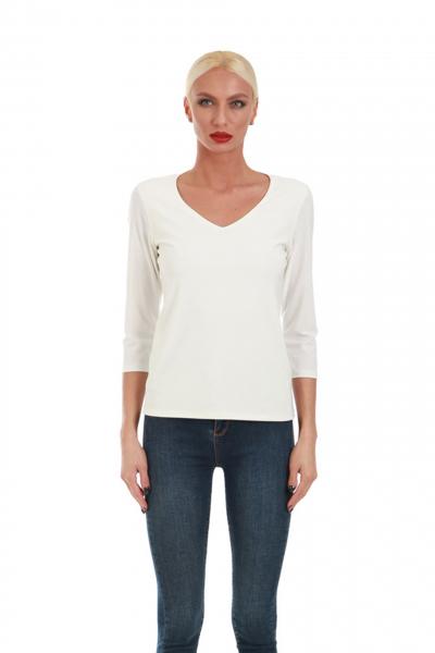 Дамска блуза с V-образно деколте