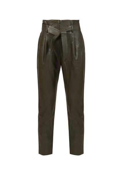 Кожен панталон с колан