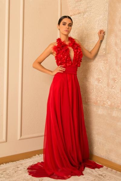 Дамска рокля Junona Red Dreams