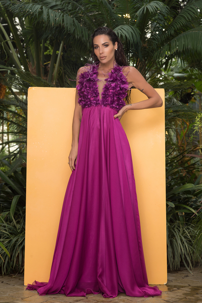 Елегантна рокля purple flower
