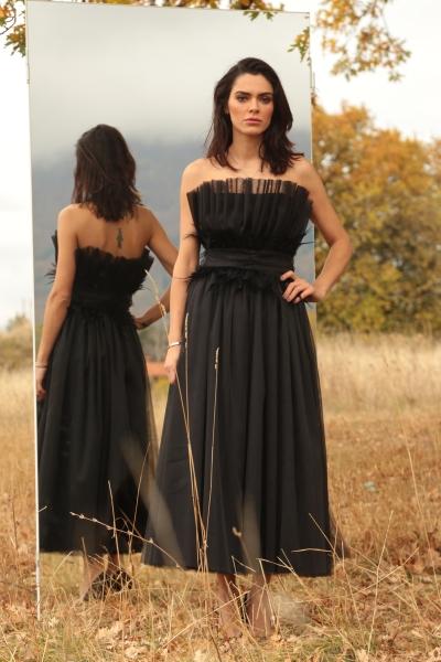 Дълга рокля от тюл