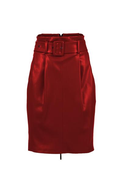 Кожена пола с цип