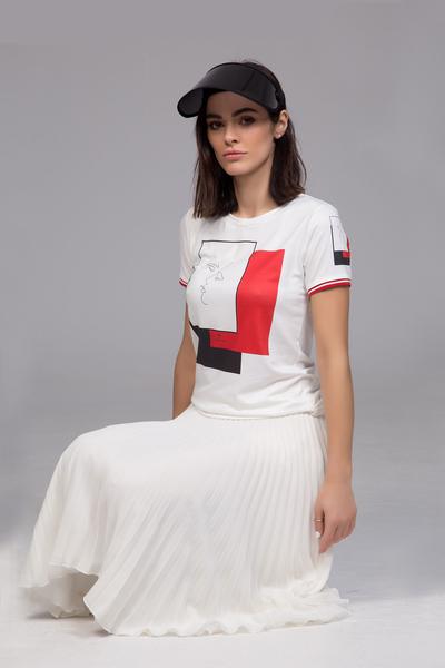 Дамска блуза с принт Red