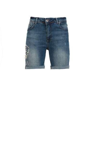 Къс панталон от деним