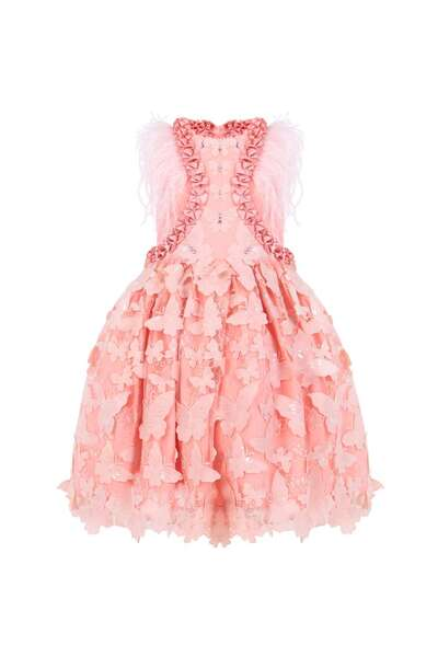 Детска рокля с пеперуди