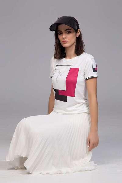 Дамска блуза с принт Pink
