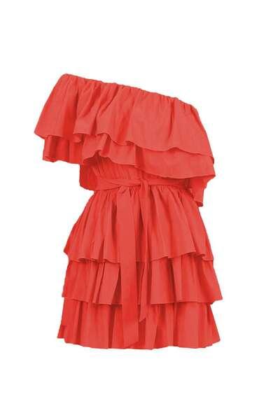 Дамска рокля с едно рамо