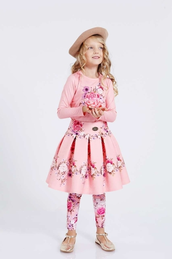 Детски клин с флорални мотиви