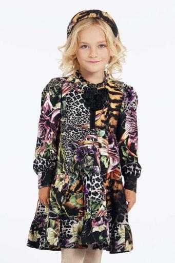 Детска рокля с флорални мотиви